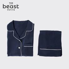 THE BEAST/ дикий зверь пирог классическая двойной креп шелк пижама хорошо уютный пижама пижама