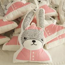 【 резиденция поза 】 карта бормотать ирак милый мультики чистый хлопок кукла игрушка --INS ветер корейский большие уши кролик куклы