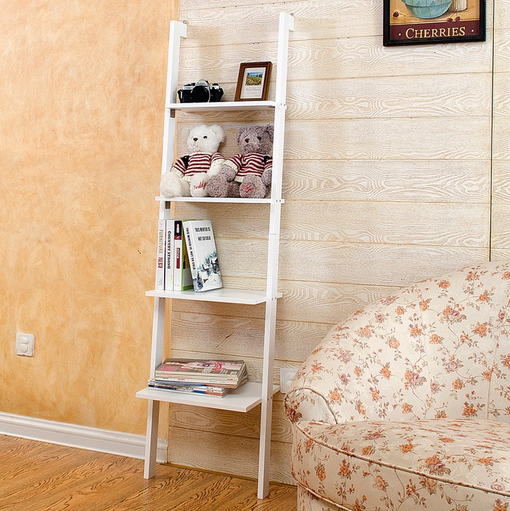 [USD 28.43] Ladder Shelf Living Room Corner Floor-to