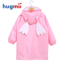 New hugmii children Raincoat three-dimensional cartoon shape children baby poncho seamless thin breathable