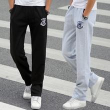 Лето спортивные брюки мужской тонкий модель брюки сын свободный прямо тенденция корейский исцелять студент мужской брюки брюки