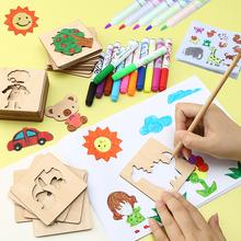 Ребенок подарок школа живопись живопись инструмент граффити мужской и женщины ребенок живопись шаблон установите 1-2-3-6-8-10 полный год игрушка