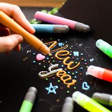 Пузырь карандаш 3D трехмерный живопись детей руки работа головоломка DIY цвет клей щетка трехмерный флуоресценция кристалл щетка