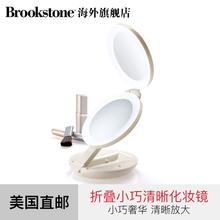 Сша BROOKSTONE сложить косметическое зеркало путешествие портативный заполнить зеркало для макияжа компактный роскошный ясно увеличить бесплатная доставка
