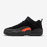 NIKE AIR JORDAN 12 RETRO LOW BG AJ12黑橙女子篮球鞋308305-003