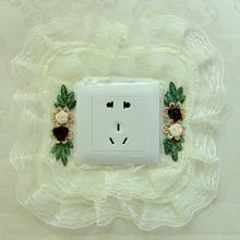 Полный 5 белый пакет коммутатор резерва наклейки для стен корейский ткань кружево переключатель крышка выход защитный кожух переключатель декоративный паста