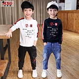 Meters West fruit children boys sweater tide models spring and autumn 2018 the new Han Edition tide clothing boys sweatshirt large kids