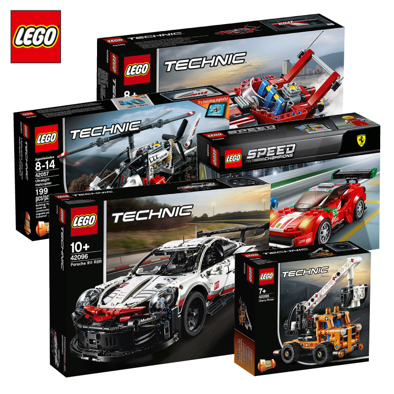 Lego Building Block Boys Toy Children Science and Technology Machinery Group Series Aircraft Particle Race Automobile Assembly Model