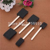 5 x Foam Brush Sponge Wooden Handle Art Craft Painting Varn