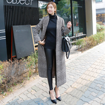 New Korean version of the woollen coat in winter ultra slim trench coat jacket long fringes and thickening of cotton cashmere womens tide