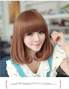 Small volume Short Wig female fresh pear head Liu Qi in the long hair curls are lifelike shave all special offer.