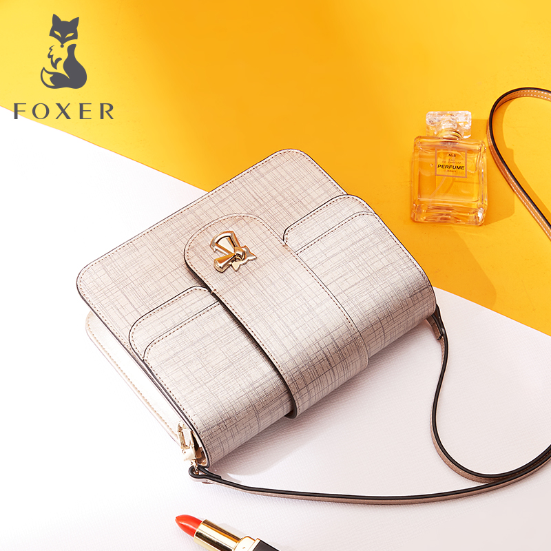 Golden Fox Fairy Bag Female 2018 New Wave Korean version of wild diagonal cowhide handbags fashion shoulder small square bag
