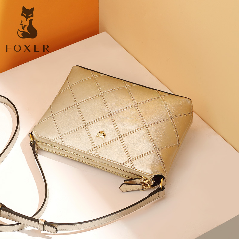 Golden Fox bag female 2018 new Messenger bag Europe and the United States fashion simple small square bag wild rhombic shoulder bag tide