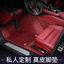 The 21 Porsche New Cayenne Coupe Palamera Taycan leather 718 fully enclosed car floor MATS