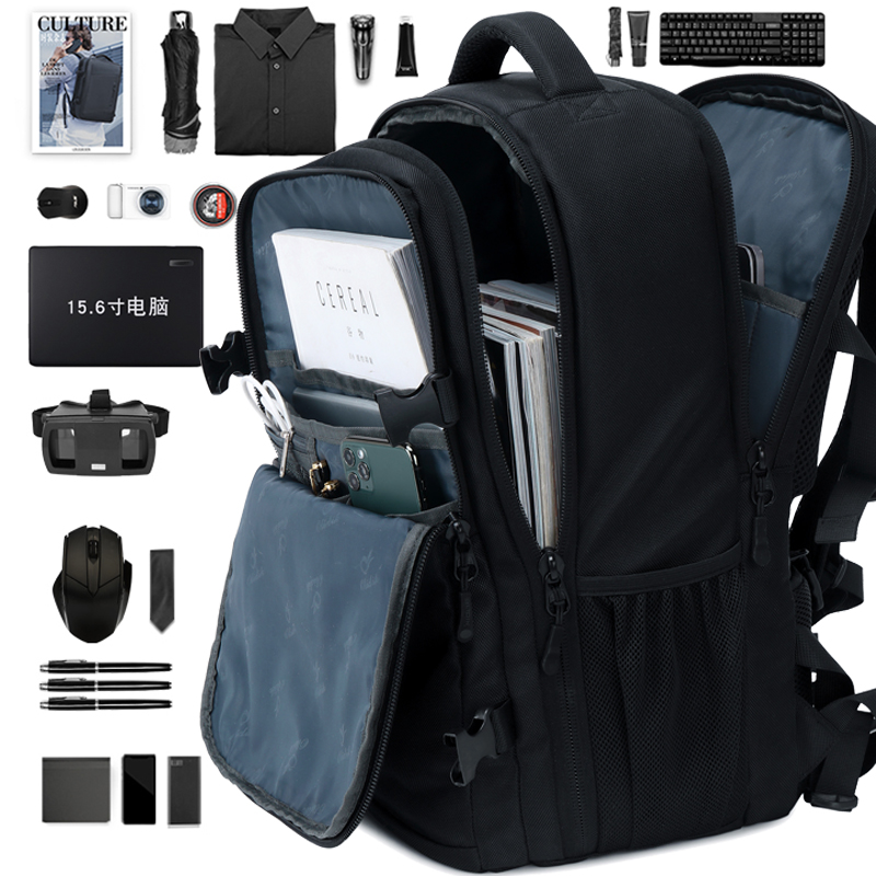 Backpack men's backpack 2020 new business portable computer bag 15.6-inch fashionable large-capacity travel bag female