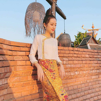 New Spring and Autumn Net red suit Yunnan Thailand tourism ethnic style women Dai clothing female overalls anchor