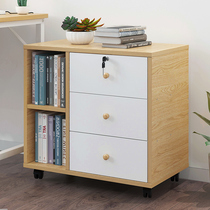 File cabinet wooden drawer with lock drawer locker Office Mobile low cabinet table three drawers data Cabinet small cabinet