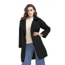 The hot season in the new dress fluffy long sleeve long coat