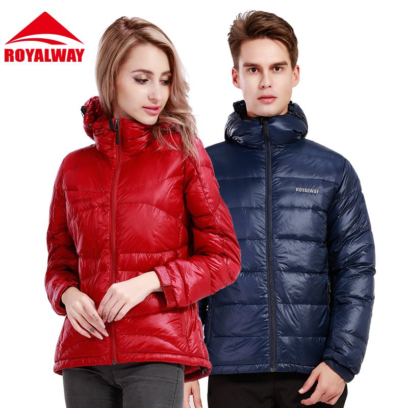 Royalway outdoor white duck down jacket for men and women in autumn and winter