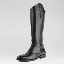 骑马长靴头层牛皮马术训练装备长靴真皮靴男款障碍高筒马靴