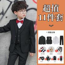 Children Suit Suit flower girl dress three-piece suit boy suit jacket little boy piano costume host