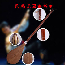 Xinjiang native ethnic musical instruments Tutar Uyghurs play musical instruments standard playing the piano students send bags
