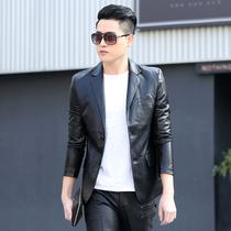 Натуральная кожа мужская 2020 весна и осень новая корейская версия короткий тонкий кожаный костюм молодежный тренд повседневная куртка Куртка