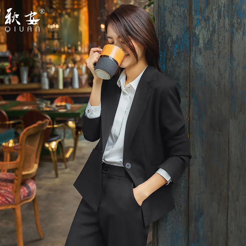 Spring and autumn professional clothing fashion temperament civil servants interview dress female college work clothes Small suit suit Korean version