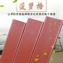 Pineapple lattice antiseptic wood solid wood board courtyard balcony wood floor outdoor balcony wood square wooden house
