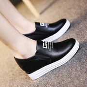 Autumn and winter increased in a white female shoe pedal shoes and cotton shoes slip-on Korean all-match loafer