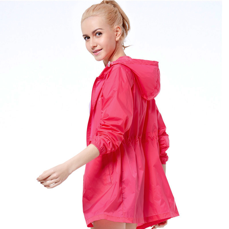 Summer outdoor skincare ladies light breathable windbreak clothes in the long sunscreen loose fashion beach clothes