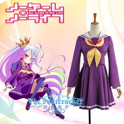 No Game No Life Cosplay Costumes Wigs Shoes Props Bhiner Cosplay