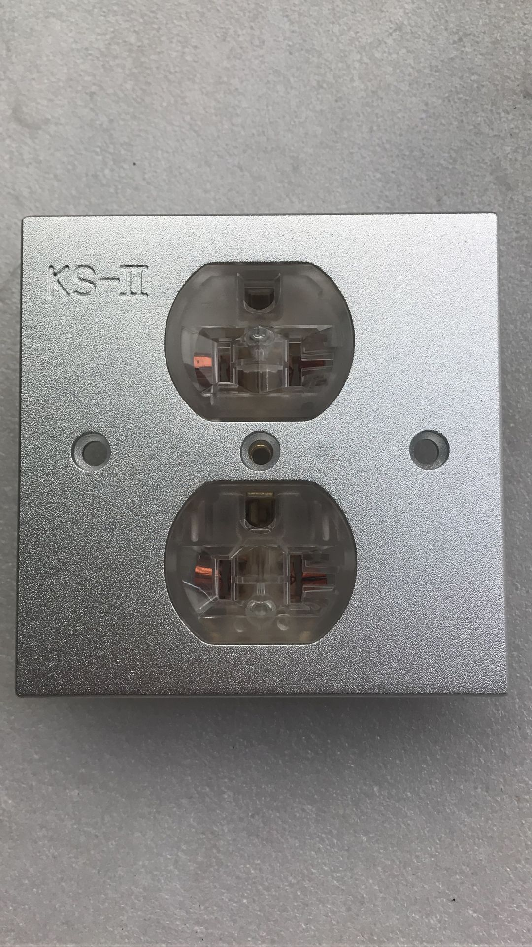 New American standard power socket Copper socket Wall socket panel Aluminum socket panel 86X86 panel