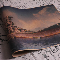 World War II famous Japanese battleship Yamato military giant gun picture of the Japanese navy fans collection of materials