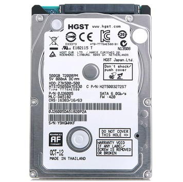 Hitachi/Hitachi 500G 5400 Serial SATA Laptop 2.5-inch Hard Drive 500G