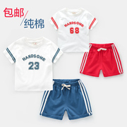 The boy short sleeved sportswear suit Kids Summer Summer wear shorts girls baby children 1-3-5 years of age 4