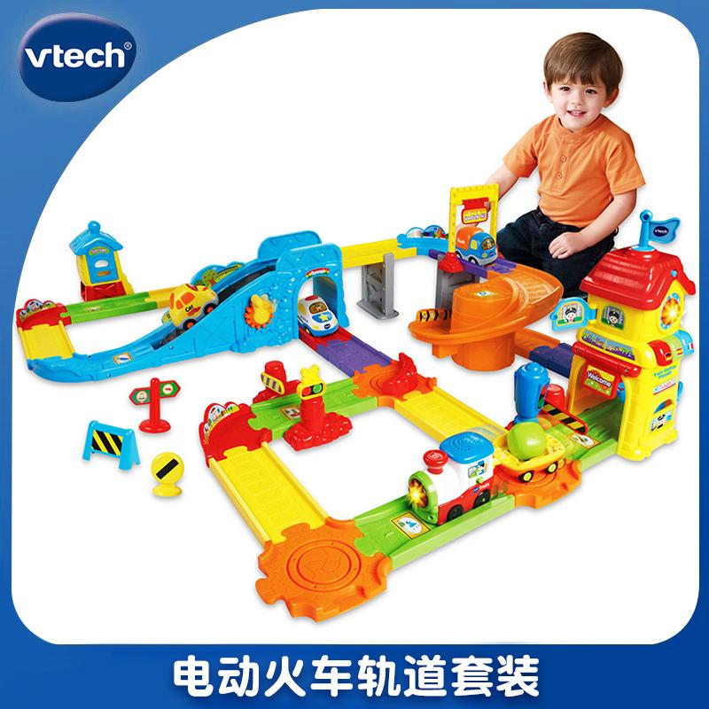 VTech VTech Electric Train Track Set assembles a train station car childrens toy car