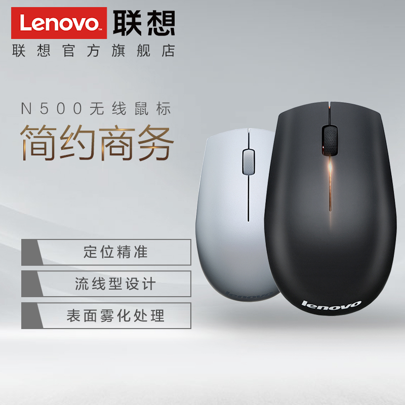 886fcdcd9aa Lenovo wireless mouse N500 home office gaming mouse portable power saving  personality beautiful multicolor