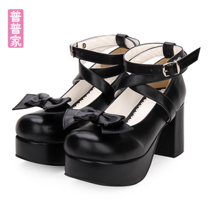 d6e4722f011 Spring Summer classic Japan Style Sweet Lolitashoes Lolita Small leather  shoes Bow-knot Princess -