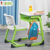 Primary and secondary school students standard table and chair training tutoring cram childrens home school classroom learning table and chair set