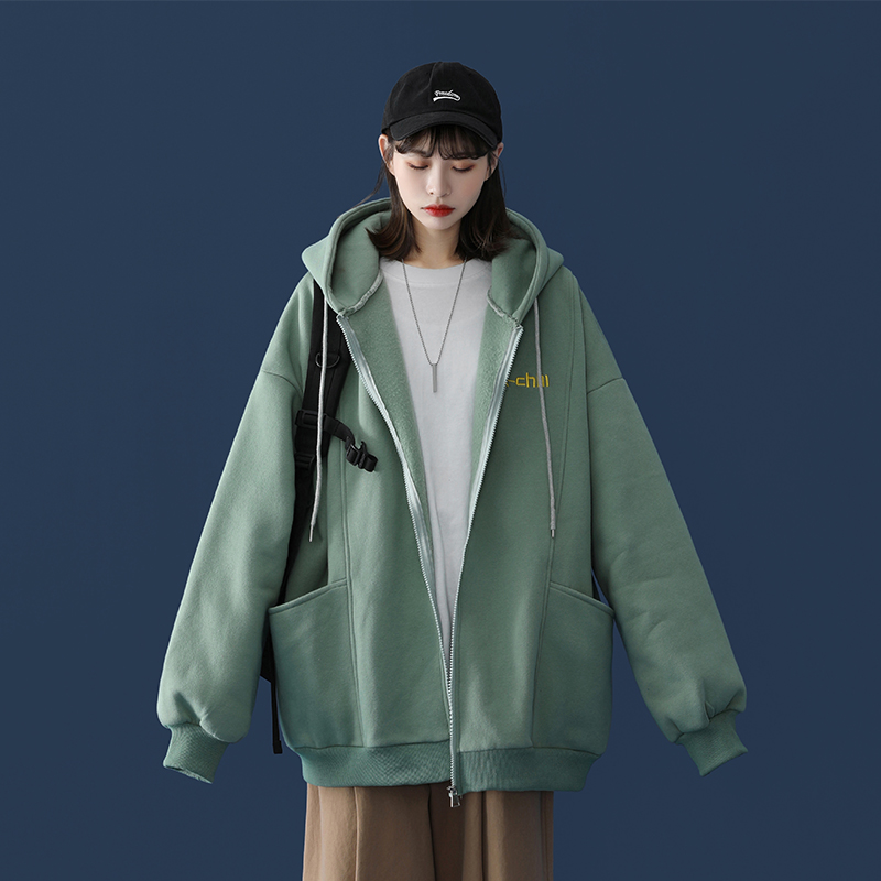 (Buy one to give one) coat womens autumn winter hundred with 2020 new autumn thickened baseball uniform womens baseball thick cotton T