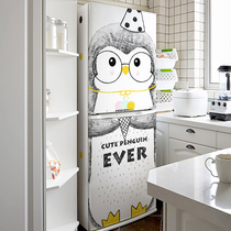 ins wind refrigerator stickers decorative stickers waterproof self-adhesive creative air conditioning refurbished film removable cartoon penguin