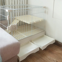 Rabbit cage household room automatic dung pet nest villa extra large rabbit supplies Dutch pig breeding cage
