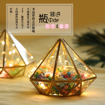Wishing bottle lucky star paper finished glass jar paper crane wish birthday gift to send male and female friends honey classmates