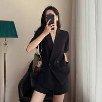 Sandro Moscoloni summer thin section 2021 new casual temperament short-sleeved jacket shorts suit suit women
