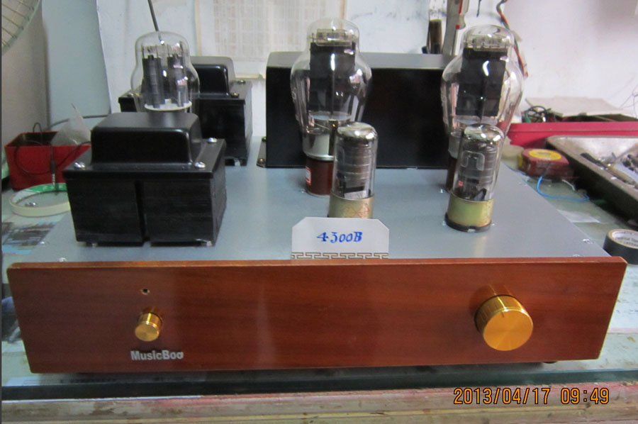 [All hand scaffolding DIY] Guiguang 4300B single-ended pure class a tube amplifier for personal use King of voice spot