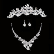 Honey marriage 2014 new crown diamond necklace earrings set dress popular package Crown Necklace