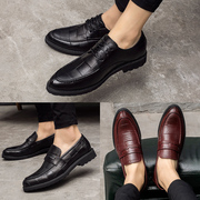 The increase in small business Korean tide England youth shoes casual shoes leather pointed all-match trend