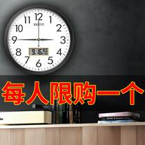 Watch wall clock Living room fashion creative clock hanging watch Simple wall home decoration wall hanging electronic quartz clock