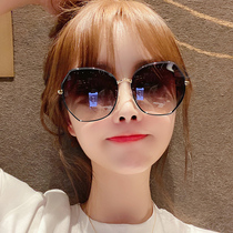 2020 new womens sunglasses Korean version of the tide anti-UV polar glasses round face thin